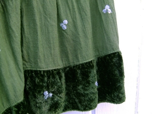 Green skirt close
